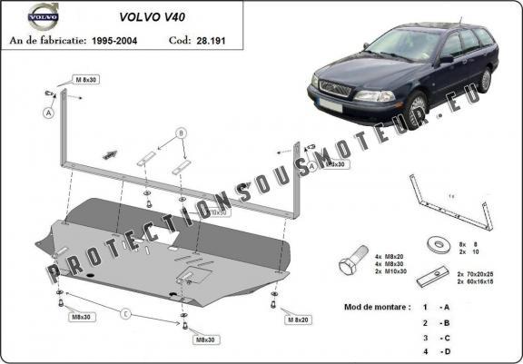 protection m tallique cache sous moteur volvo v40. Black Bedroom Furniture Sets. Home Design Ideas