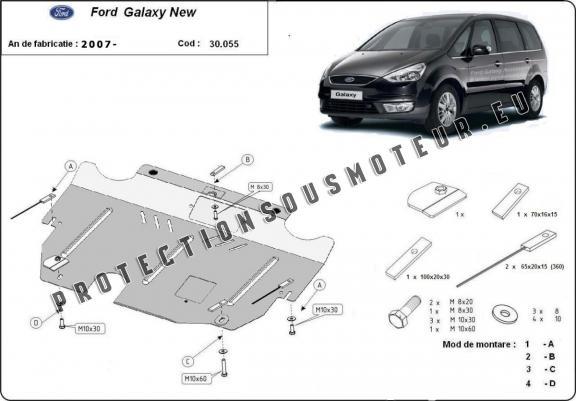 protection sous moteur et de la bo u00eete de vitesse ford galaxy 2