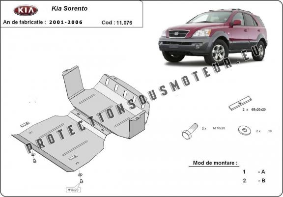 protection sous moteur et de la radiateur kia sorento