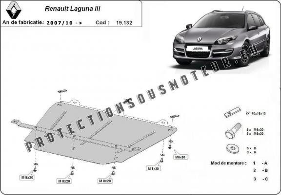 protection m tallique cache sous moteur renault laguna. Black Bedroom Furniture Sets. Home Design Ideas