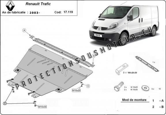 Protection M 233 Tallique Cache Sous Moteur Renault Trafic