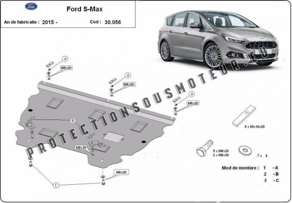 protection m tallique cache sous moteur ford s max. Black Bedroom Furniture Sets. Home Design Ideas