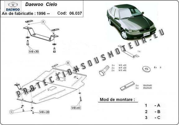 protection sous moteur et de la bo u00eete de vitesse daewoo cielo