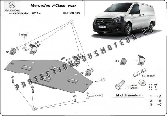 Protection EGR, system STOP&GO Mercedes V-Classe W447 4x2, 1.6 D