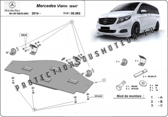 Protection EGR, system STOP&GO Mercedes Viano W447 4x2, 1.6 D