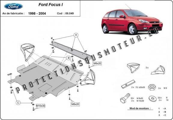 protection sous moteur et de la bo te de vitesse ford focus 1. Black Bedroom Furniture Sets. Home Design Ideas