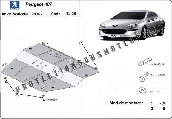 protection sous moteur et de la bo u00eete de vitesse peugeot 407