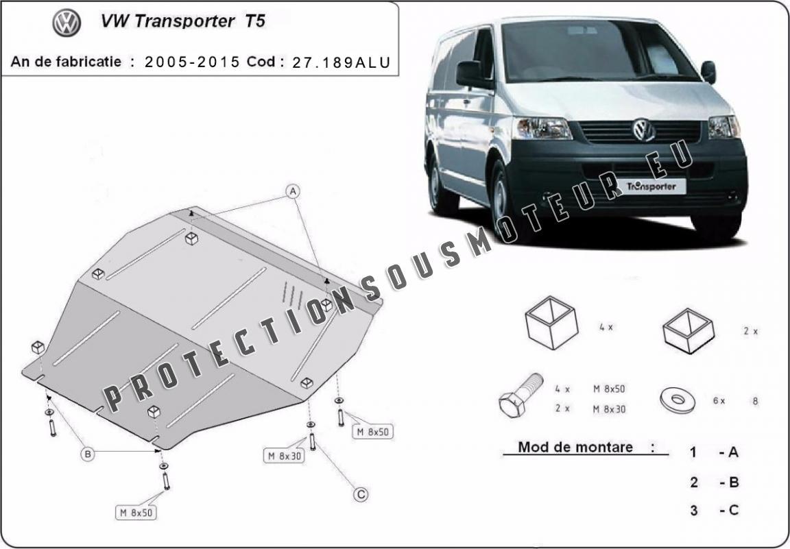 Cache sous moteur Vw Transporter T5